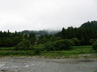雨のおかげで水無川にもまた水が流れています