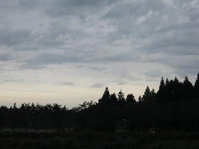 台風が近づいている影響なのか、雲が不思議な形をしています