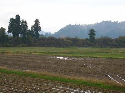 寒い朝です@魚沼産コシヒカリの田んぼ