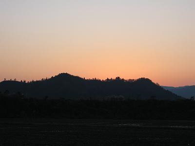 夕日が沈んだ後の空もきれいでした