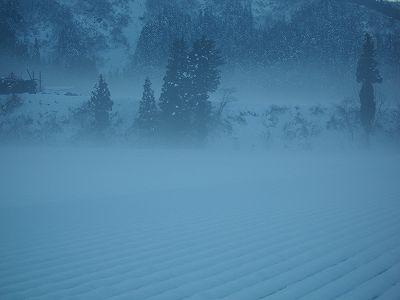 今朝は冷え込んでいます@魚沼産コシヒカリの田んぼ