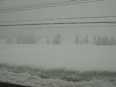 さらに60cmくらいの雪が積もりました@魚沼産コシヒカリの田んぼ