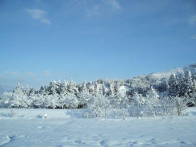 青空が見えています@新潟県南魚沼市
