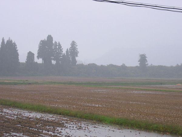 お昼過ぎから新潟県南魚沼市は天気がくずれました