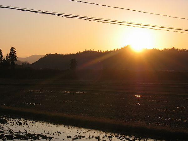 夕日がとてもまぶしかったです