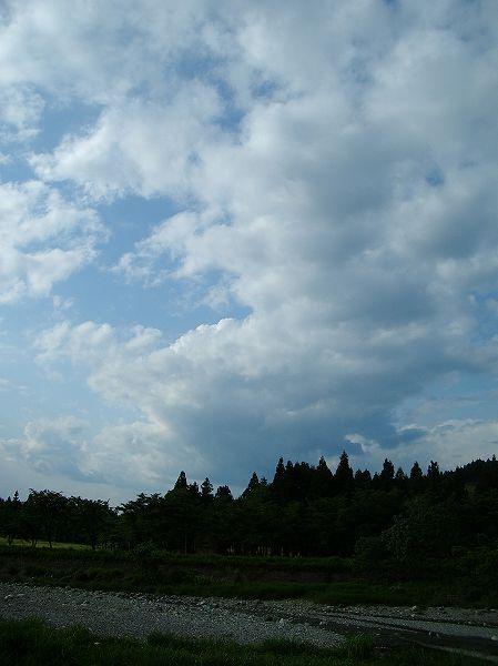 新潟県南魚沼市は午後になってから青空が見えていい天気になりました