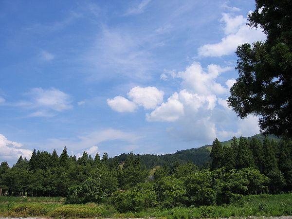 厳しい残暑が続く新潟県南魚沼市