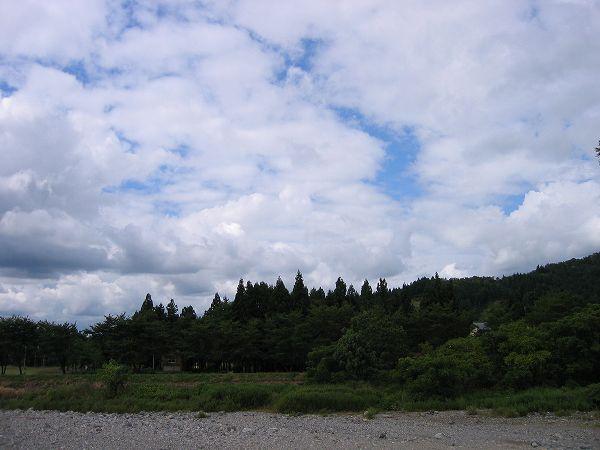 今日の魚沼産コシヒカリの田んぼは涼しくて秋のような一日です