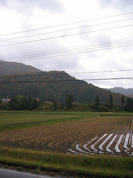 今朝の新潟県南魚沼市は雨が降ったり止んだりしています