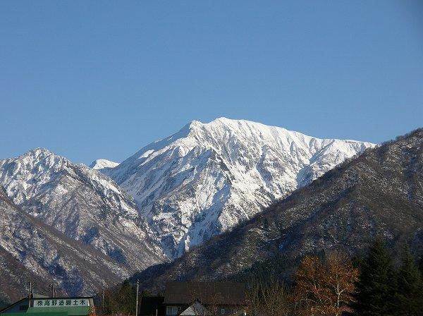 駒ケ岳がくっきりと見えています