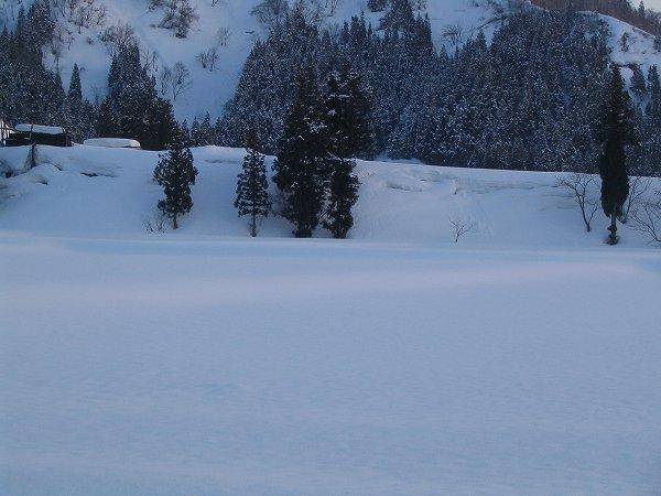 朝は雪が積もりましたが、その後はいい天気の一日でした