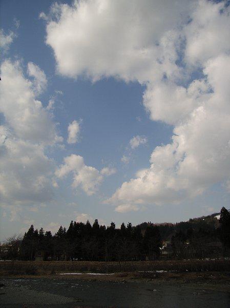 今日もまだ寒いですが、青空が見えてきました