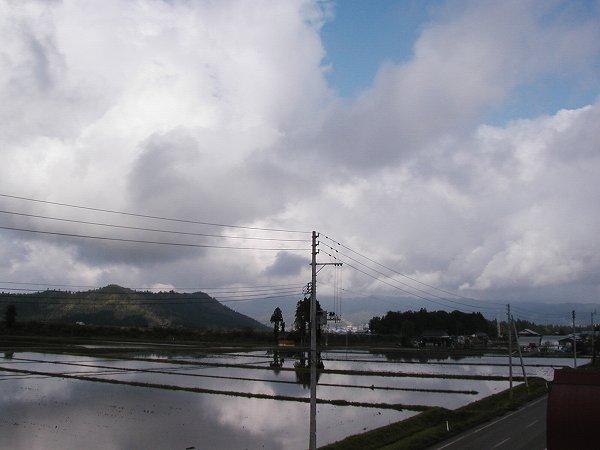 水が張られた田んぼが多くなってきました