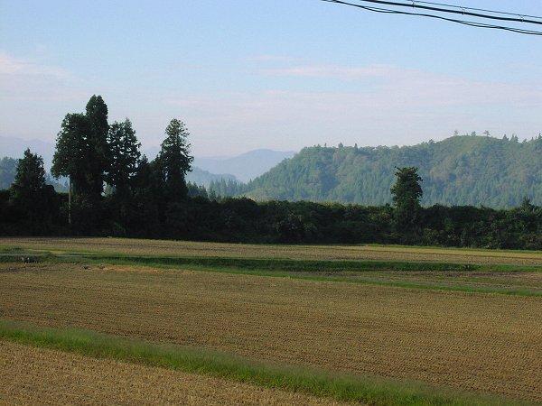 秋の深まりを感じる静かな朝です - 魚沼産コシヒカリの田んぼ@新潟県南魚沼市