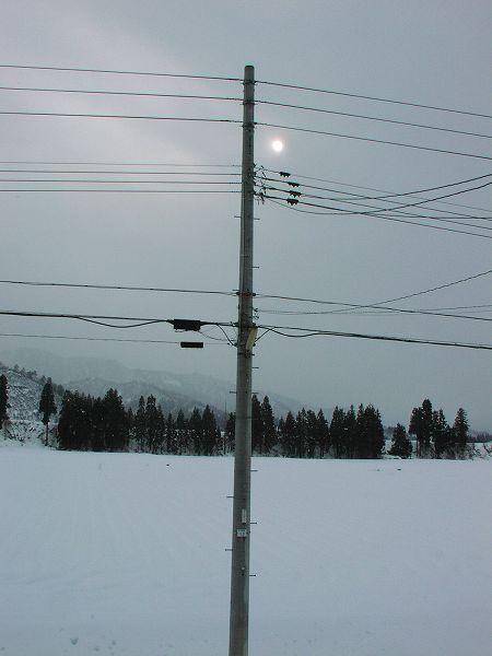 田んぼはすっかり雪で覆われました