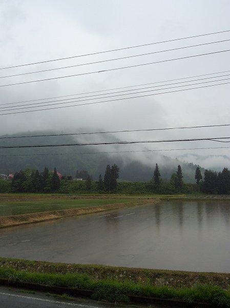 今朝の新潟県南魚沼市は雨降りです