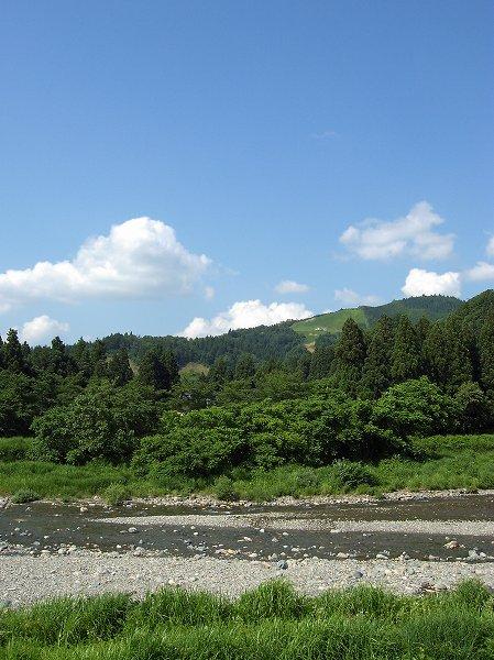 水無川の水が枯れると真夏に突入します
