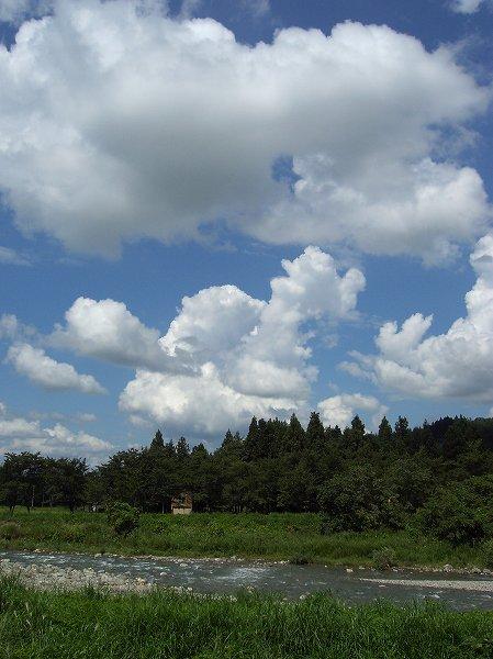 新潟県南魚沼市は爽やかな秋晴れです、といってもまだ8月ですが・・・