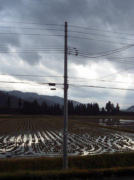 雨が止んで道路が乾いてきました