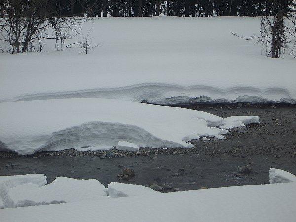 水無川の雪解け