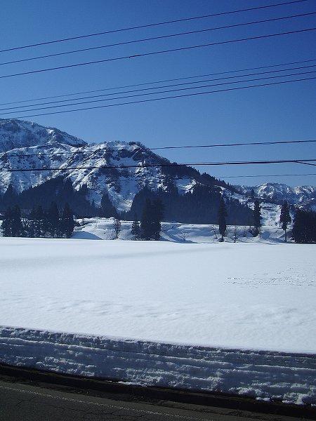 今朝の新潟県南魚沼市はきれいな青空が広がっていい天気です