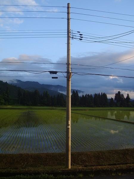 夕方になって雨が上がって青空が見えてきました