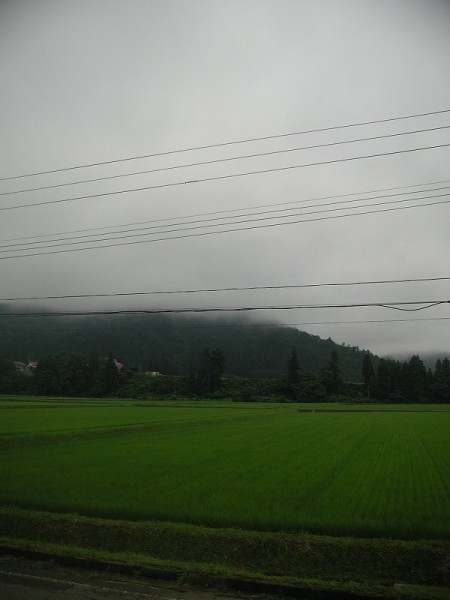 新潟県南魚沼市は雨降りの一日でした