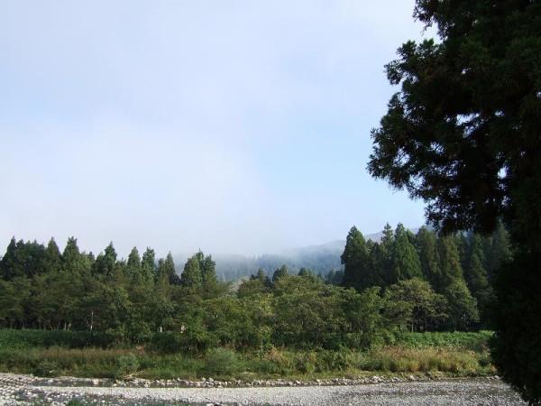 霧が晴れて青空が見えてきました