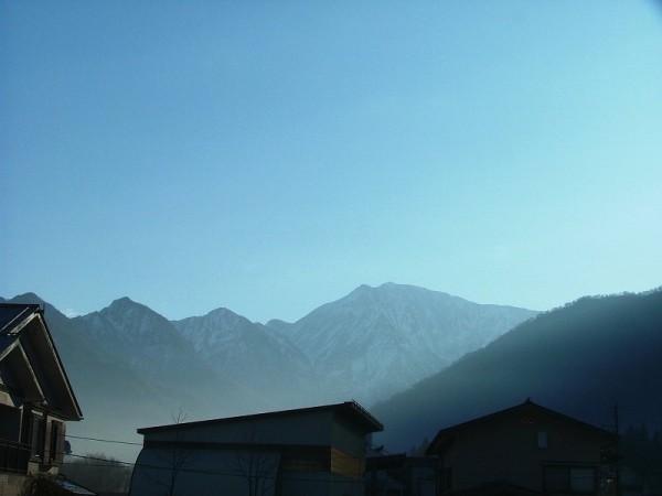 今朝の魚沼駒ケ岳