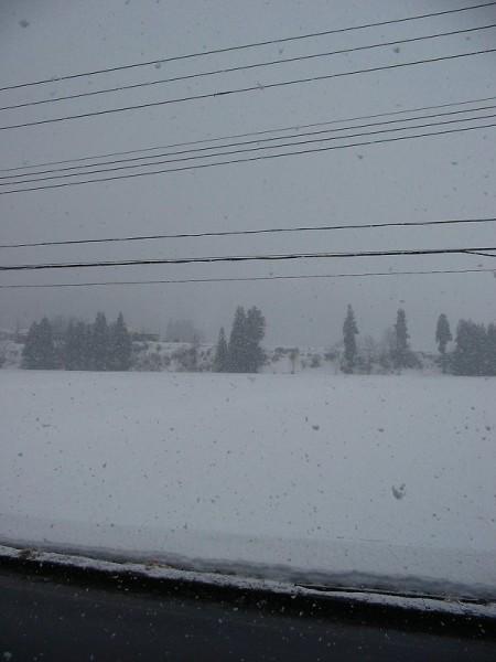 新潟県南魚沼市の天気は雨から雪に変わりました