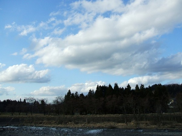 青空が見えていい天気になりました