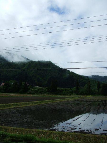 雨が止んで青空が見えてきました