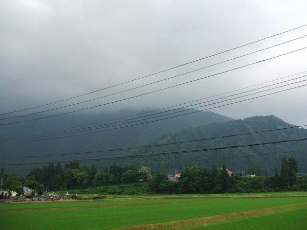 梅雨時のどんよりとした空です