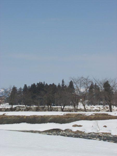雪が解けて水無川の土手がかなり出てきました